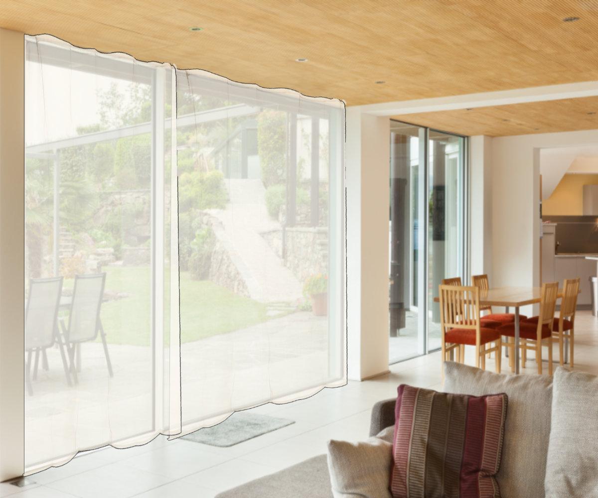 Tende Per Veranda Cucina dettagli su zanzariera a tenda per porta veranda finestra anti zanzare  mosche rete 150 x 250