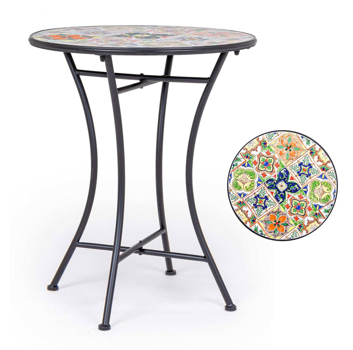 Tavolo Da Esterno Giardino Decoro In Ceramica Paloma Bricolfer